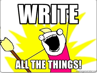 WriteAllTheThings